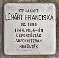 Stolperstein für Franciska Lenart (Pecs).jpg