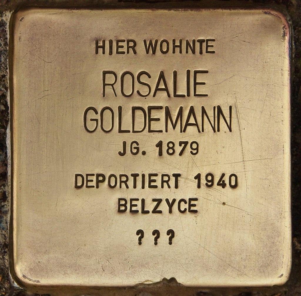 Stolperstein für Rosalie Goldemann (Senftenberg).jpg