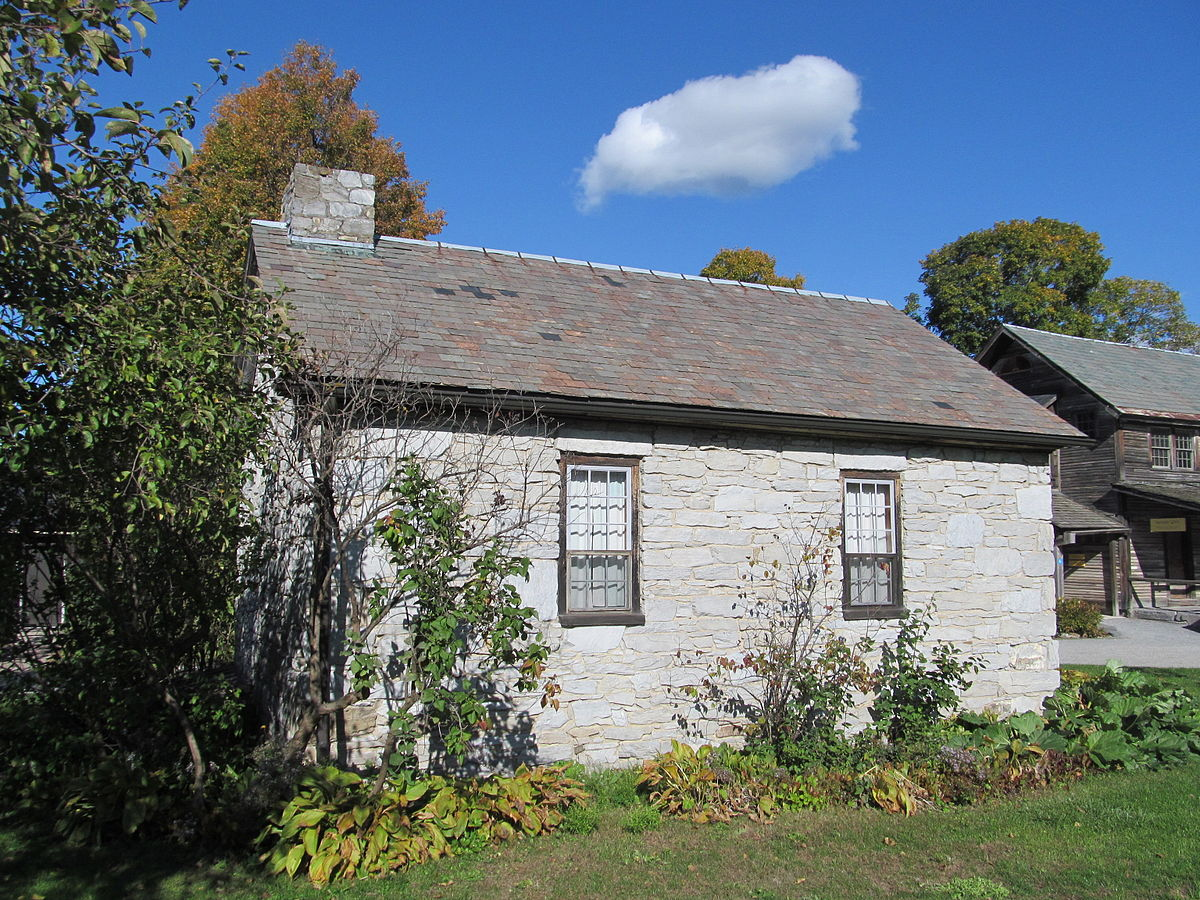 Stone cottage and smokehouse wikipedia for Building a house in vermont