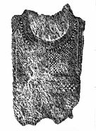 Stone rubbing of anthropomorphic stele no 10, Sion, Petit-Chasseur necropolis 14