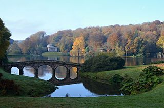 Stourhead Estate, grade I listed English garden in the United Kingdom
