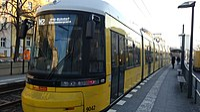 Straßenbahn Berlin 9042 Prenzlauer Allee Metzer Straße 180228.jpg