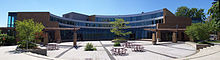 Student Life Centre Courtyard at the University of Waterloo in August 2007.jpg