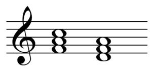 Primary triad - Image: Subdominant parallel in C major