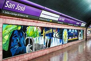 Moebius (1996 film) - Murals depicting the film at San José station.