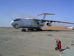 Sudan Nyala Airport Ilyushin-76.jpg