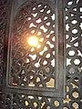 Sun from Mihrab at Humayun's Tomb.JPG