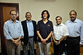Sunita Lyn Williams with NCSM Dignitaries - Kolkata 2013-04-02 7414.JPG