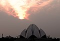 Sunset at Bahai Temple (Lotus Temple) Delhi (2239117950).jpg