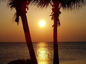 Goshen College - Long Key sunset seen across the street from Goshen College Marine Biology lab