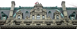Surrogate's Courthouse - The top of the building