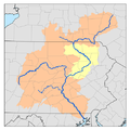 Susquehanna River watershed map with middle Susquehanna River watershed highlighted.png