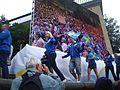 Svenska friidrottslandslaget i EM 2006 avtackas på Götaplatsen, 13 augusti 2006 (2).jpg