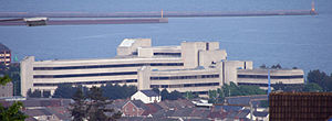 City and County of Swansea Council - Civic Centre overlooking Swansea Bay