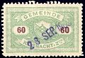 Switzerland Küsnacht 1901 revenue 60c - 5a.jpg