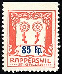 Switzerland Rapperswil 1917 revenue 1 85r - 8A.jpg