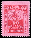 Switzerland Reconvilier 1919 revenue 2 30c - 4.jpg