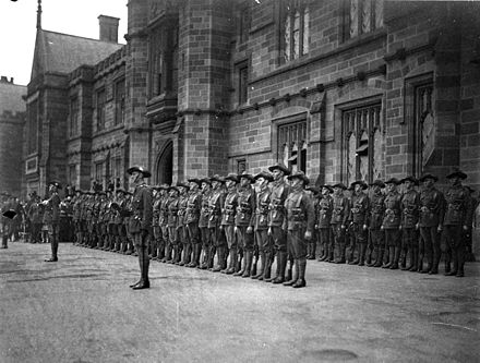 The Sydney University Regiment forming a guard of honour for the visiting Duke of York, 1927 Sydney-university-regiment-duke-of-york-visit-1927.jpg