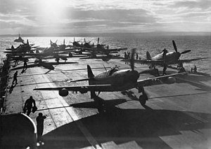 Australia in the Korean War - RAN Firefly aircraft on board HMAS Sydney off Korea