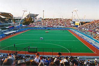 Field hockey at the 2000 Summer Olympics - Sydney Olympic Park Hockey Centre during the Olympics.