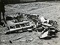 Szerbia 1941-ben, Messerschmitt vadászrepülőgép roncsa. Fortepan 77016.jpg