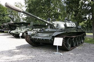 T-54/T-55 operators and variants - Image: T 55A at Panzermuseum Munster