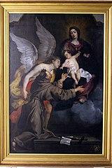 Madonna en kind verschijnen aan de Heilige Franciscus