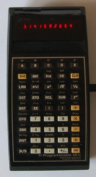 TI-59 / TI-58 - The TI-58C