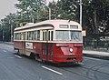 TTC 4024 (PCC) a BINGHAM KINGSTON ROAD ar on Queen St. in downrown Toronto, ONT on September 8, 1965 (22631531331).jpg