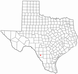 Location of Carrizo Springs, Texas
