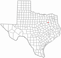 Location of Gun Barrel City, Texas