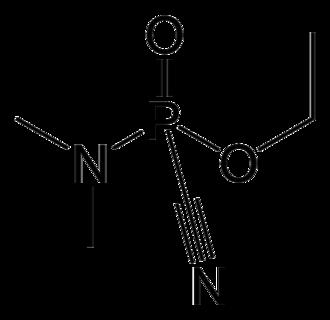 Tabun (nerve agent) - Image: Tabun 2D skeletal by AHRLS