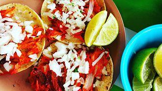 Mexican cuisine - Tacos al pastor in Mérida, Yucatán