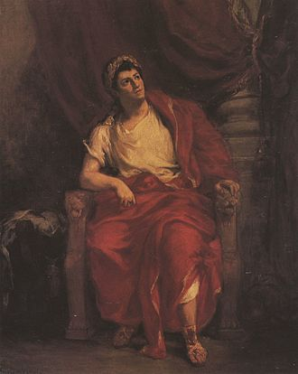 Tragedy - French actor Talma as Nero in Racine's Britannicus.