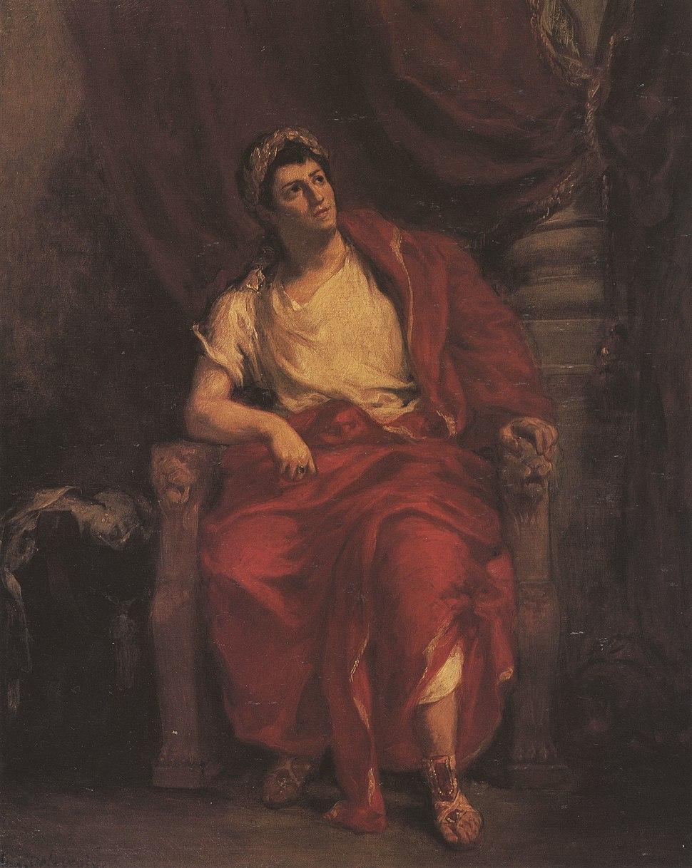 Talma as Nero in Britannicus by Racine - Delacroix - zeno