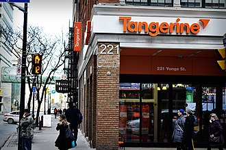 Tangerine Bank - A Tangerine café on Yonge Street in Toronto