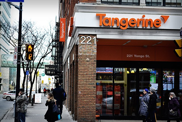Tangerine bank by Bargain Moose [CC BY 2.0 (https://creativecommons.org/licenses/by/2.0)]