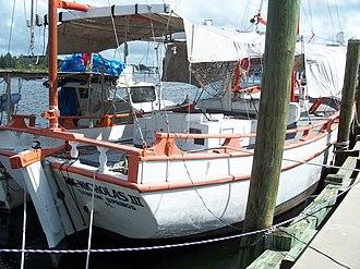 St. Nicholas III (Sponge Diving Boat) - Image: Tarpon Springs St Nicholas III04