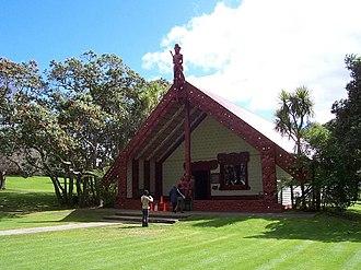Waitangi, Northland - The whare runanga (Māori meeting house)