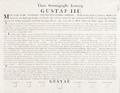 Teckning, Gustav III till häst, 1776 - Livrustkammaren - 89013.tif