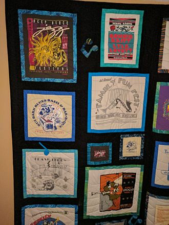 Flash Terry - Quilt made by Constance Spotts with T-Shirts actually worn by Flash Terry for his son Dustin Morris
