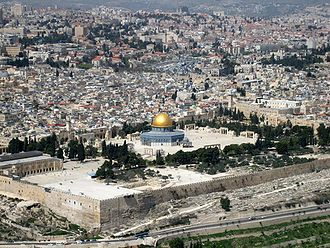 Holy city -  Al-Aqsa Mosque in Jerusalem, a holy city in Judaism, Christianity and Islam