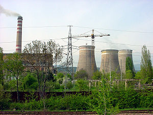 A thermal power station near Sofia, Bulgaria