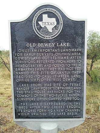 Blanco Canyon - Texas Historical Marker on Highway 82, for Texas Ranger Camp Roberts
