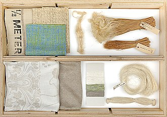 Linen - Flax stem, fiber, yarn and woven and knitted linen textiles