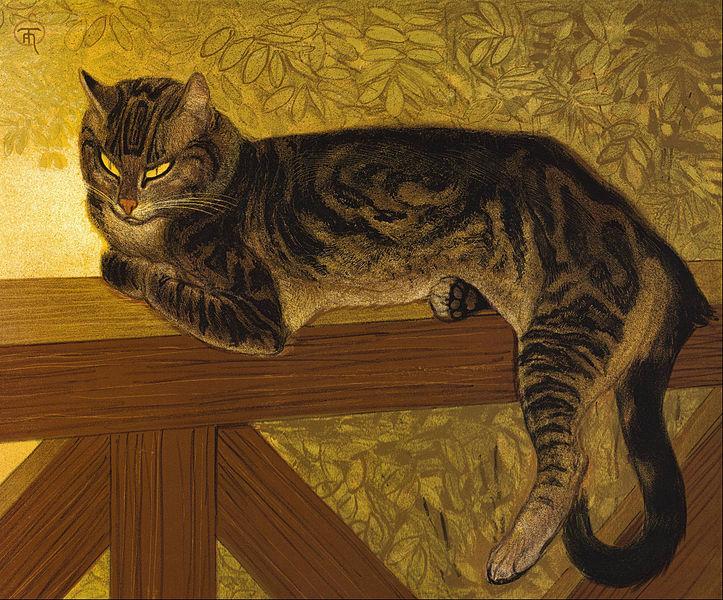 723px-Th%C3%A9ophile_Alexandre_Steinlen_-_Summer-_Cat_on_a_Balustrade_-_Google_Art_Project.jpg