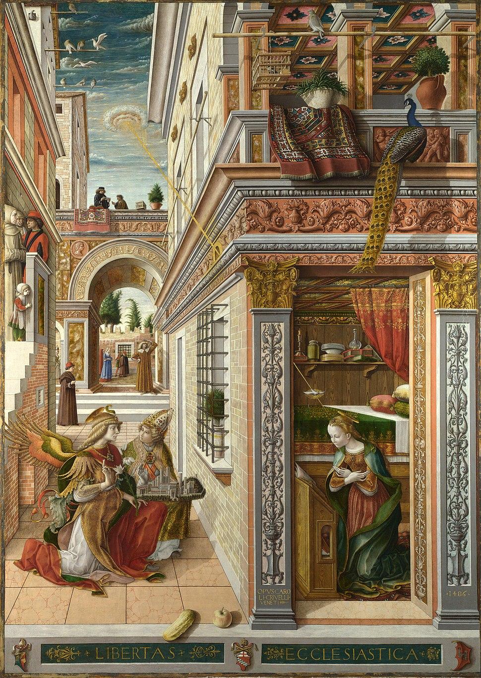 The Annunciation, with Saint Emidius - Carlo Crivelli - National Gallery