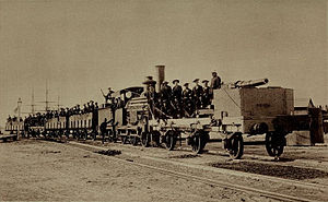 Battle of Kafr El Dawwar - Image: The Armed Train at Alexandria
