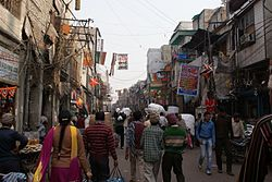The Bara Tooti chowk in Sadar Bazaar, Delhi