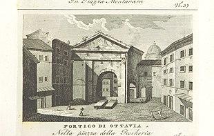 Il portico in una pubblicazione del 1820